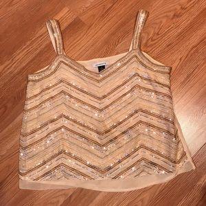 0d18229580d Liz Claiborne Tops - Liz Claiborne Women's Sequins Cami Tank Top